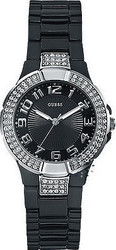 Guess Crystal Lady Black Dial and Bracelet - W11611L2