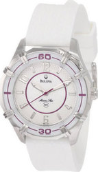 Bulova Ladies Solano Marine Star Rubber Strap Watch 96L144