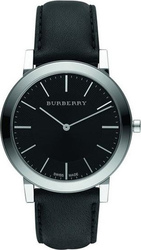 Burberry Mens Black Dial Black Leather Strap BU2351