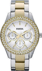 Fossil Stella Calendar Two-Tone Stainless Steel Bracelet ES2944
