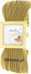 Nina Ricci Swiss Made Diamond Gold Watch N019.42.35.4