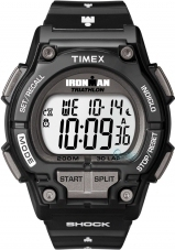 Timex Ironman Shock Resistant Black Rubber T5K478