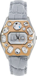 Liu Jo Matilda Crystal Lady Rose Gold Case White Leather S TLJ093