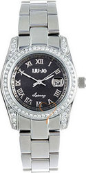 Liu Jo Amy Crystal Lady Black Dial Stainless Steel Bracele TLJ137