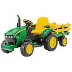 Peg Perego John Deere Ground Force w/trailer