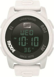 Marc Ecko Mens Watch Digital White Rubber Strap E07503G2