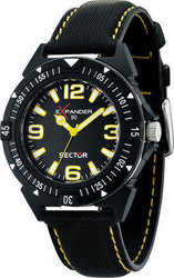 Sector Expander 90 Black and Yellow Dial Black Leather Str R3251197004