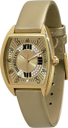 Morellato Class Crystal Lady Gold Dial and Leather Strap 1A010