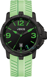 Venus Chroma Mens Size Green Rubber Strap VE-1312A2-22G-R10