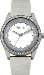 FCUK Ladies White Leather Strap FC1073SS