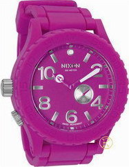 Nixon Rubber Shocking Pink Watch A236644