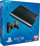 Sony Playstation 3 (PS3) Super Slim 500GB Charcoal Black