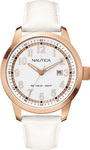 Nautica NCT Date White Leather Strap A16621G