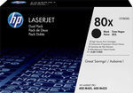HP 80X Black High Yield 2-pack Toner (CF280XD)