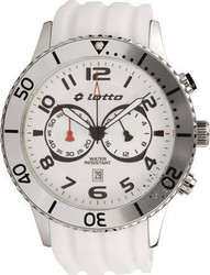 Lotto Chronograph White Rubber Strap - LM0048-01