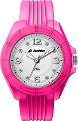 Lotto Ladies Crystal Pink Silicon Strap - LU2148-03
