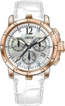 Venus Rose Gold White Leather Chronograph VE-1315A6-84-L1