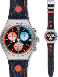 Swatch Since 2013 Chronograph Denim Strap