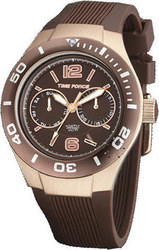 Time Force Elsa Pataky 'Limited Edition' Brown Rubber Strap