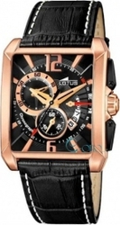 Lotus Rose Gold Leather Strap Chronograph