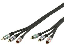 HQ Component Video Cable 3x RCA male - 3x RCA male 0.75m (HQSS3811/0.75)
