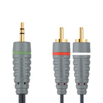 Bandridge Audio Cable 3.5mm male - 2x RCA male 1m (BAL3401)