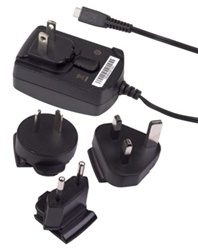 Blackberry micro USB Wall Charger Μαύρο (ASY-18080-001) (Retail)
