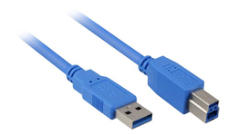 Sharkoon USB 3.0 Cable USB-A male - USB-B male 3m (4044951010851)