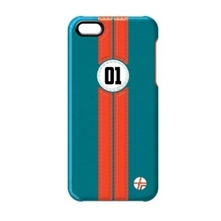 Trexta Retro Racer Orange in Blue (iPhone 5/5s/SE)