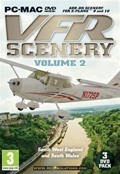 X-plane Vfr Scenery Volume 2 South West England And South Wales PC