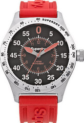 Superdry Men's Compound Sport Red Rubber Strap SYG111R