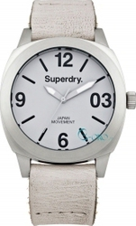 Superdry Thor White Leather Strap SYL116W