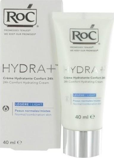 roc hydra creme hydratante confort 24h peaux normales mixtes legere 40ml. Black Bedroom Furniture Sets. Home Design Ideas