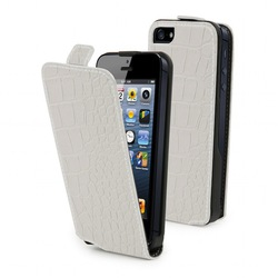 Muvit Croco Slim White (iPhone 5/5s/SE)
