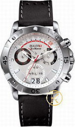 Buler Sea Hunter Chrono Ss Case Silverwhite Dial Blackstrap 047121