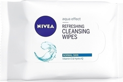 Nivea Refreshing Cleansing Wipes for Normal & Combination Skin 25τμχ