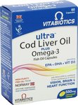 Vitabiotics Ultra Cod Liver Oil plus Omega-3 60 κάψουλες