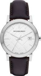 Burberry Watch Men's Swiss Smooth Black Leather Strap BU9008