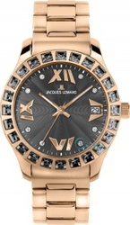 Jacques Lemans Rome Rose Gold Stainless Steel Bracelet 1-1517ZH
