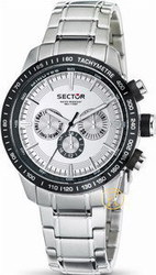 Sector Quartz Watch With Silver Dial Analogue Display And Silver Stainless Steel Bracelet R3253575001