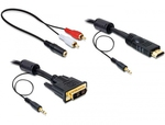 DeLock DVI male - HDMI male - 2x 3.5mm male - 2x RCA male - 3.5mm female 5m (84457)