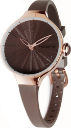 Hoops Cherie Brown Rubber Strap 2483LG-02