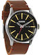 Nixon The Sentry Brown Leather Strap