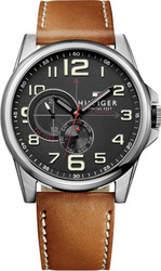 Tommy Hilfiger Brown Leather Strap 1791004