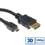 Roline HDMI Cable with Ethernet HDMI male - micro HDMI male 0.8m (11.99.5579)