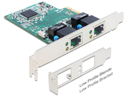 DeLock 89358 PCI Express Card to 2 Gigabit Ethernet