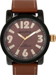Puppis Brown Dial And Leather Strap PUM4112