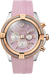 Breeze Flirtini Rose Gold Pink Rubber Chronograph 110211.2