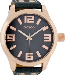 Oozoo 51mm Unisex Blue Leather Strap C1107