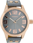 Oozoo 45mm Unisex Blue Leather Strap C1154